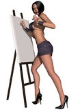 Beautiful sexy pin-up girl Stock Photos