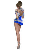 Beautiful sexy pin-up girl in sexy corset Royalty Free Stock Image