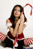 Beautiful sexy Santa Claus helper Royalty Free Stock Photography