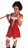 Beautiful sexy Santa Claus helper Stock Photo