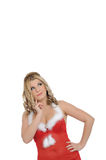 Beautiful sexy santa clause woman christmas Stock Images