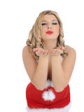 Beautiful sexy santa clause woman christmas Stock Photos