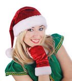 Beautiful sexy santa girl. Stock Image