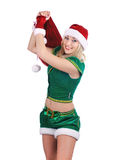 Beautiful sexy santa girl. Royalty Free Stock Image