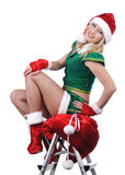 Beautiful sexy santa girl. Royalty Free Stock Photography