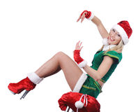 Beautiful sexy santa girl. Stock Photo