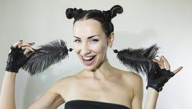 Beautiful Sexy Stylish Emotional Woman face Stock Photography