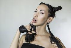 Beautiful Stylish Emotional Woman face Royalty Free Stock Image
