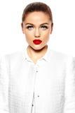 Beautiful sexy stylish model with bright makeup Stock Photo