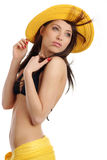 Beautiful summer woman royalty free stock photography