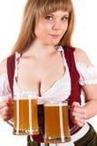 Beautiful sexy waitress Oktoberfest Stock Photography