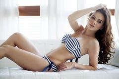 Beautiful and sexy woman in bikini Stock Photo