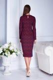 Beautiful sexy woman  brunette hair clothing catalog stylish Royalty Free Stock Image