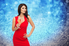 Beautiful sexy woman with champagne glass Stock Photo