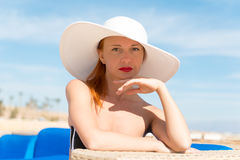 Beautiful sexy woman closeup Stock Images