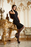 Beautiful sexy woman collection clothes business fashion style Royalty Free Stock Image