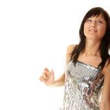 Beautiful sexy woman dancing Stock Photo
