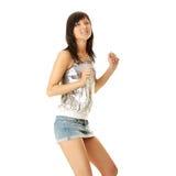 Beautiful sexy woman dancing Stock Image