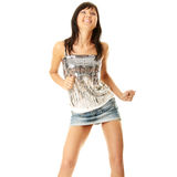 Beautiful sexy woman dancing Royalty Free Stock Image