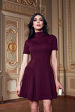 Beautiful woman in elegant dress fashionable autumn Collection of spring long brunette hair makeup tanned slim body figure ac. Cessories interior luxury castle stock photo