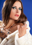 Beautiful woman in fur fashion style Royalty Free Stock Photography
