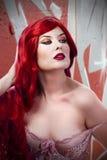 Beautiful sexy woman grafitti Stock Image