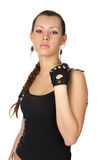Beautiful woman with handcuffs Stock Photography