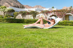 Beautiful sexy woman near pool Royalty Free Stock Photos