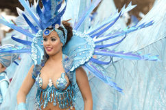 Beautiful and sexy woman samba dancer Stock Photography