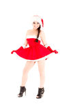 Beautiful and sexy woman, santa claus costume Royalty Free Stock Images