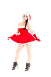 Beautiful and woman, santa claus costume Stock Image