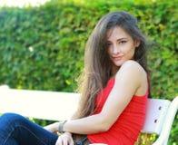 Beautiful sexy woman sitting Stock Image