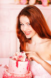 Beautiful woman in studio royalty free stock image
