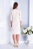Beautiful sexy woman style fashion white dress bride wedding Stock Photography