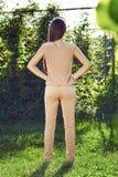 Beautiful sexy woman wearing dress walk in the park sun shine Royalty Free Stock Photos
