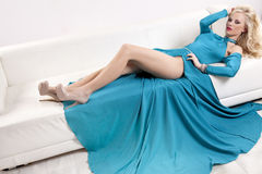 Beautiful and sexy woman wearing elegance dress Royalty Free Stock Photos