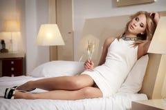 Beautiful and woman wearing elegance dress Royalty Free Stock Image