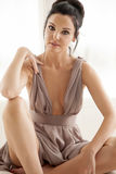 Beautiful and sexy woman wearing elegance dress Royalty Free Stock Photo