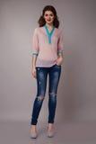 Beautiful sexy woman wearing jeans denim Royalty Free Stock Photos