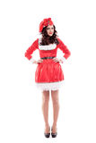 Beautiful and sexy woman wearing santa clause Stock Images