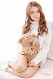 Beautiful woman wearing sweater Stock Photography