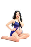Beautiful sexy young pregnant woman Stock Photos