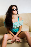 Beautiful sexy young woman Stock Images