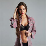 Beautiful sexy young woman.beauty body girl with in underwear Stock Images