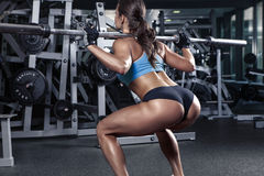 Free Beautiful Sexy Young Woman In Gym Royalty Free Stock Photos - 55903138