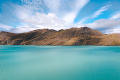Beautiful shades of blue - Torres del Paine National Park - Chile Stock Photos