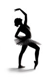 Beautiful shadow silhouette of ballerina 1 Royalty Free Stock Photos