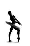 Beautiful shadow silhouette of ballerina 2 Stock Photography