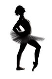 Beautiful shadow silhouette of ballerina Stock Images