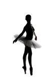 Beautiful shadow silhouette of ballerina 3 Royalty Free Stock Image